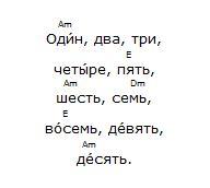 Compter en russe en chantant